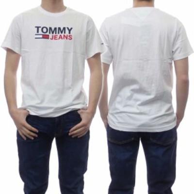 【セール 40%OFF!】TOMMY JEANS トミージーンズ メンズクルーネックTシャツ DM0DM10214 ホワイト