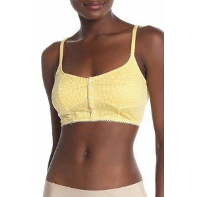 Free People フリーピープル ファッション 下着 Free People Womens Bra Yellow Size Medium M Bralette Plaid Printed