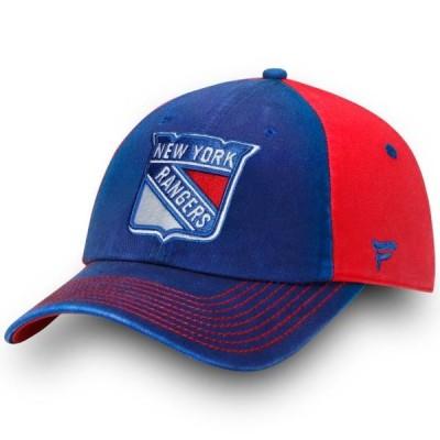 ユニセックス スポーツリーグ ホッケー New York Rangers Fanatics Branded Iconic Blocked Fundamental Adjustable Hat - Blue - OSFA