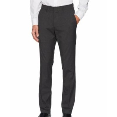 Kenneth Cole ケネスコール ファッション パンツ Kenneth Cole Reaction Mens Pants Gray 32X32 Dress - Flat Front Stretch