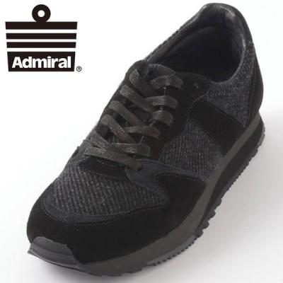 Admiral メンズ レディース スニーカー アドミラル DOVER AC メランジウール ブラック ローカット