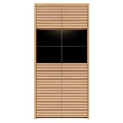 無垢リビング家具コリーナ(ショーケース・コレクション・シェルフ)80cm メープル