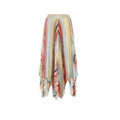 ミッソーニ Missoni レディース ひざ丈スカート スカート Striped knitted midi skirt