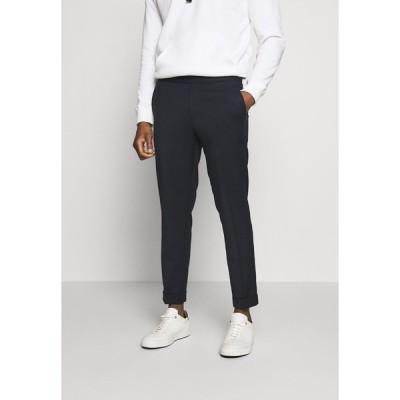 フィリッパコー カジュアルパンツ メンズ ボトムス TERRY CROPPED PANTS - Trousers - navy