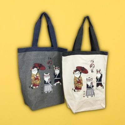 【猫まっしぐらセレクト】ネコまるけ JAPAN 猫丸家の巻・猫のトートバッグ-猫丸家
