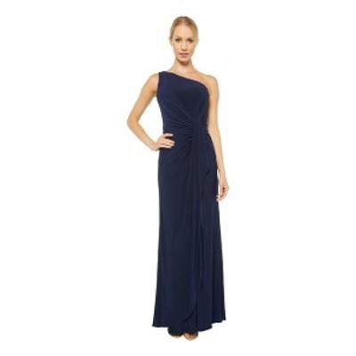 アドリアナ パペル レディース ワンピース トップス One Shoulder Jersey Dress Midnight
