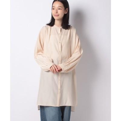Melan Cleuge 【Melan Cleuge women】サテンチュニックシャツ(キナリ)【返品不可商品】