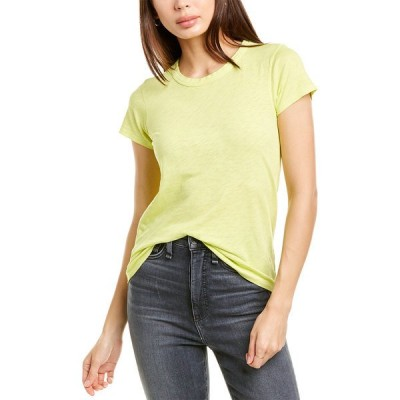 ラグアンドボーン シャツ トップス レディース rag & bone The T-Shirt lime green