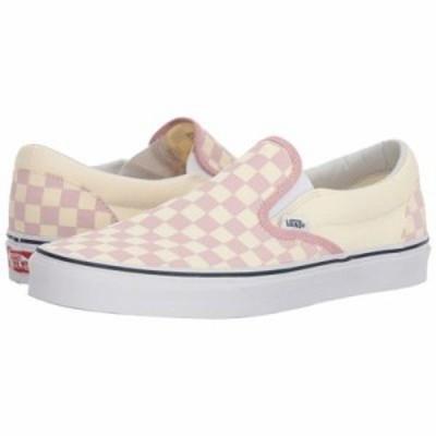 ヴァンズ スリッポン・フラット Classic Slip-On (Checkerboard) Zephyr Pink/True White