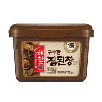 【送料無料】■韓国食品『ヘチャンドル』メジュデンジャン(田舎味噌)|チゲ専用味噌(500g)テンジャン・香ばしい味 韓国調味料 韓国料理 韓国食材 韓国食品
