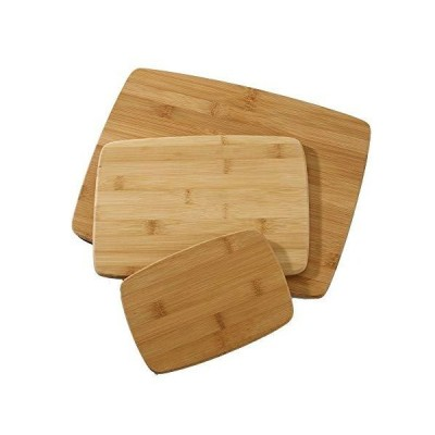 Farberware Classic 3-Piece Bamboo Cutting Board and Serving Set Assorted Si