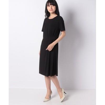 【ラピーヌ ブランシュ】 ジョイクールスムース ドレス レディース ブラック 40 LAPINE BLANCHE