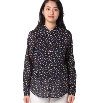 (BENETTON (women)/ベネトン レディース)プリントレギュラーシャツ・ブラウス/レディース ブルー系