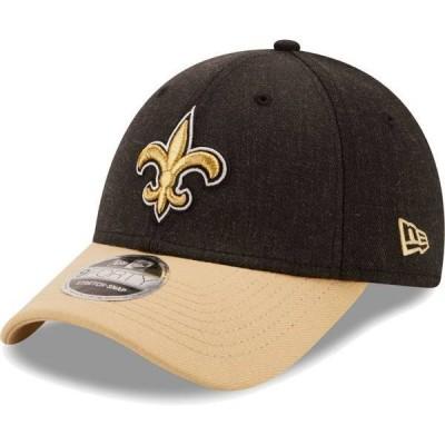 ニューエラ メンズ 帽子 アクセサリー New Era Men's New Orleans Saints Black League 9Forty Adjustable Hat