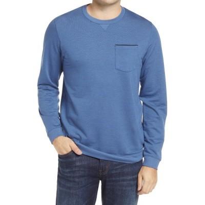 トラビス・マシュー メンズ Tシャツ トップス Lanegan Long Sleeve T-Shirt TRUE NAVY/ BLACK