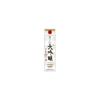 日本酒 小山本家酒造 おいしい大吟醸 17度 パック 1800ml 1.8L 1本