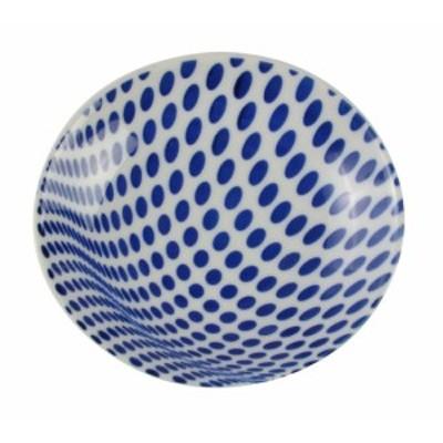即日発送 西海陶器 波佐見焼 Geometry Style ジオメトリー スタイル 楕円小皿 ドットブルー お祝い ギフト プレゼント [ポイント消化]