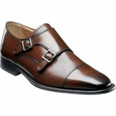 フローシャイム 革靴・ビジネスシューズ Classico Monk Brown Calfskin Leather