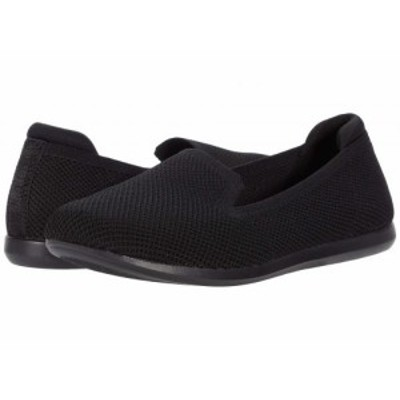 Clarks クラークス レディース 女性用 シューズ 靴 ローファー ボートシューズ Carly Dream Black Solid Knit【送料無料】