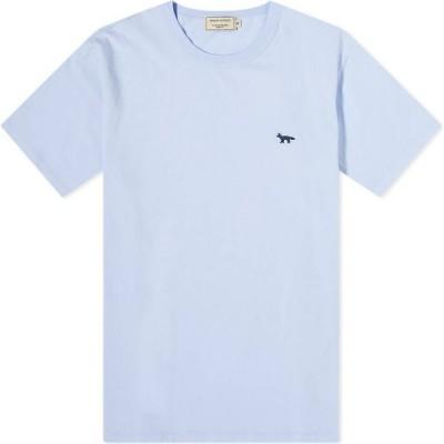 メゾン キツネ Maison Kitsune メンズ Tシャツ トップス Navy Fox Patch Classic Tee Light Blue