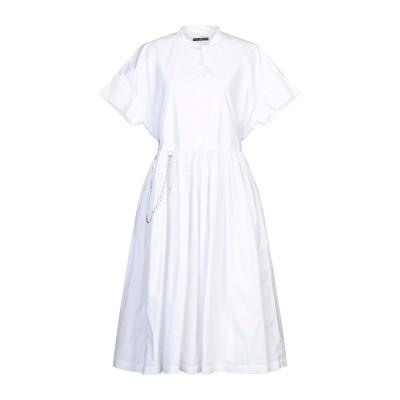 HIGH by CLAIRE CAMPBELL 7分丈ワンピース・ドレス ホワイト 46 コットン 100% 7分丈ワンピース・ドレス