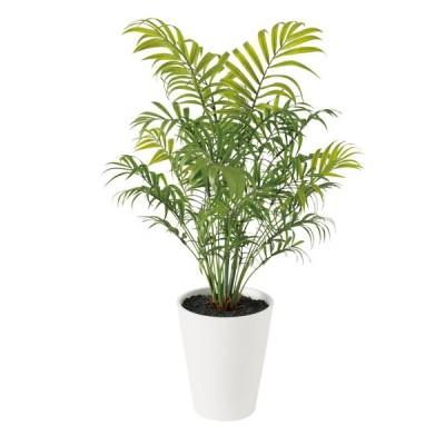 人工観葉植物  テーブルヤシ PE (器:SA-5(WH)) 91659 |フェイクグリーン イミテーション インテリア オフィス 店舗 造花 カジュアル《2018ds》