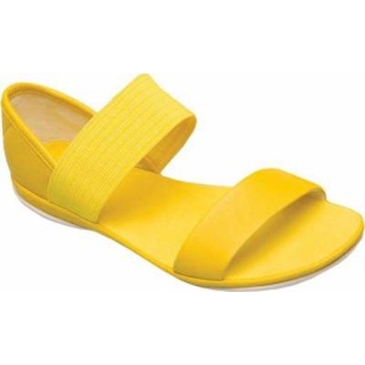 カンペール レディース サンダル シューズ Women's Camper Right Nina Sandal Medium Yellow Full Grain Leather