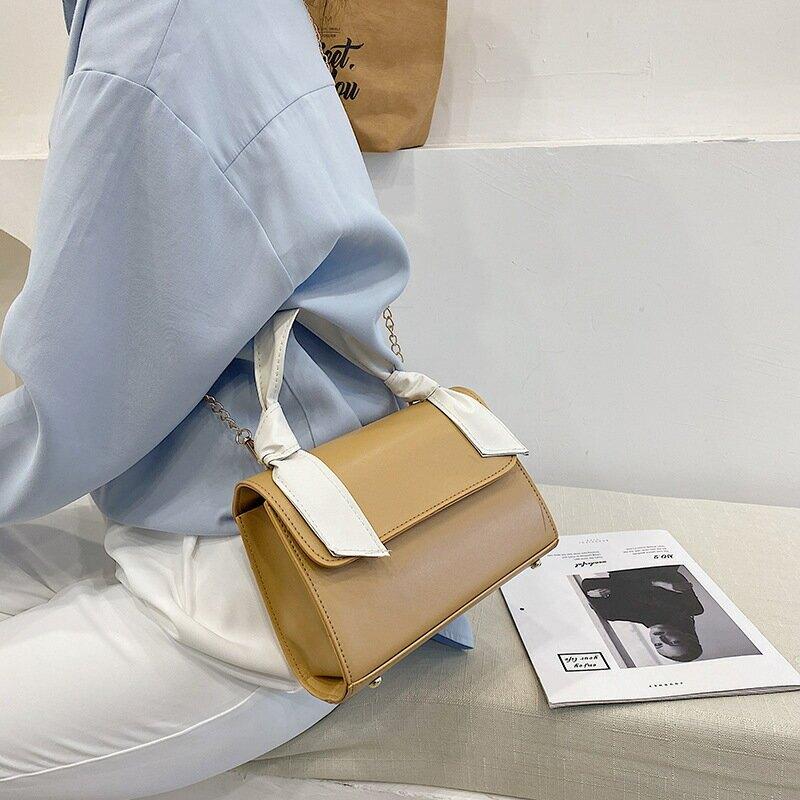 流行小包包女2021春季新款韓版簡約復古包ins洋氣質感單肩手提包