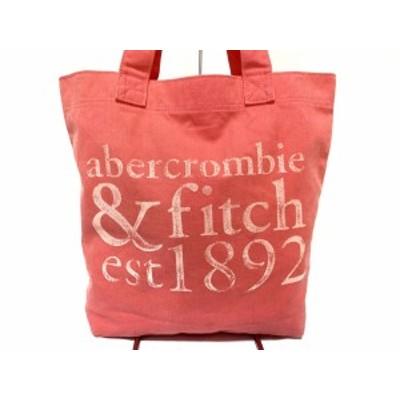アバクロンビーアンドフィッチ Abercrombie&Fitch トートバッグ レディース ピンク キャンバス【中古】20200716