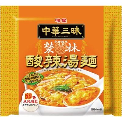 明星 中華三昧 赤坂榮林 酸辣湯麺 103g ×24個