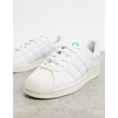 アディダス レディース スニーカー シューズ adidas Originals Sustainable Superstar sneakers in white White