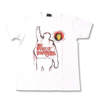 Tシャツ バンドTシャツ ロックTシャツ 半袖 (W) レイジアゲインストザマシーン RAGE AGAINST THE MACHINE 2 WHT S/S 白