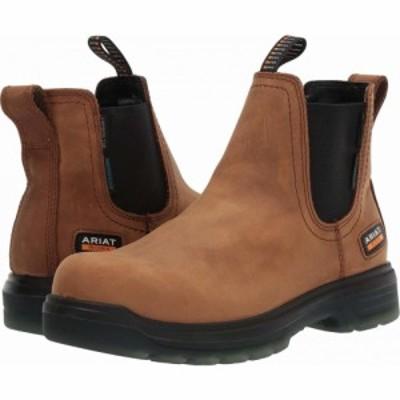 アリアト Ariat メンズ ブーツ シューズ・靴 Turbo Chelsea Waterproof Carbon Toe EH Aged Bark