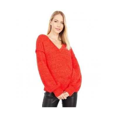 Sanctuary サンクチュアリ レディース 女性用 ファッション セーター V-Neck Cozy Sweater - Punk Red