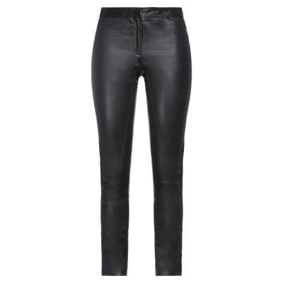 セオリー THEORY パンツ ブラック 0 羊革(ラムスキン) 100% パンツ