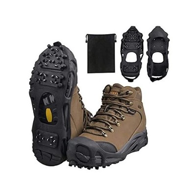 [新品]Ice Snow Traction Cleats Crampons Anti-Slip Snow Shoes Cleats Walking on Sn