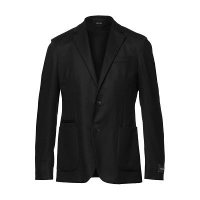 ZZEGNA テーラードジャケット ブラック 48 ウール 100% テーラードジャケット