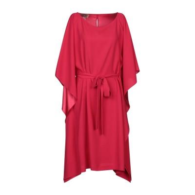 ADE' 7分丈ワンピース・ドレス ガーネット 42 ポリエステル 100% 7分丈ワンピース・ドレス