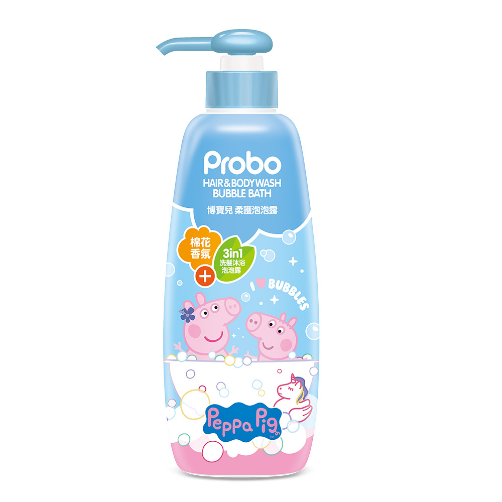 博寶兒 柔護泡泡浴-佩佩豬