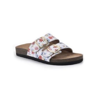 ホワイトマウンテン サンダル シューズ レディース Helga Women's Footbed Sandals White, Multi, Leather