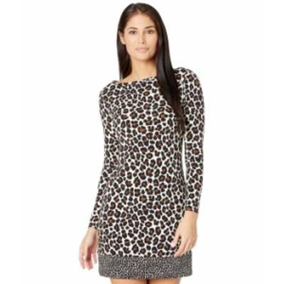 マイケルコース レディース ワンピース トップス Petite Seventies Cat Long Sleeve Border Dress Caramel