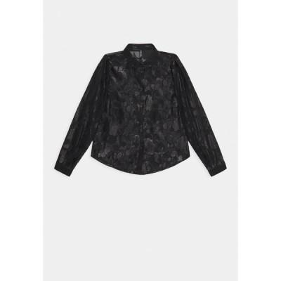 ピーシーズ シャツ レディース トップス PCDANA GLITTER - Button-down blouse - black