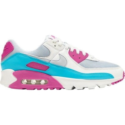 ナイキ Nike レディース スニーカー エアマックス 90 シューズ・靴 Air Max 90 Shoes Ftbll Gry/Wht/Fr Pnk/BluF