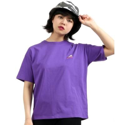 (salong hameu/サロン ハミュー)【Salong hameu】CONVERSE◆スニーカーワンポイント刺繍Tシャツ/レディース パープル