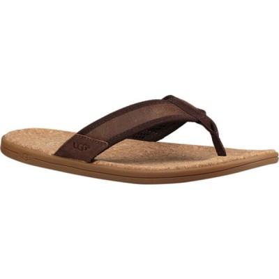 アグ サンダル シューズ メンズ Seaside Flip Flop (Men's) Chestnut Leather