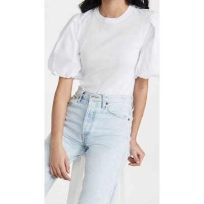ジョナサン シンカイ Jonathan Simkhai STANDARD レディース Tシャツ トップス Denise Cotton Puff Sleeve Top White