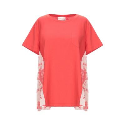 セミクチュール SEMICOUTURE T シャツ レッド M コットン 100% / ポリエステル T シャツ