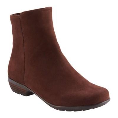 ウォーキング クレイドル ブーツ&レインブーツ シューズ レディース Elsie Ankle Bootie (Women's) Brown Nappa