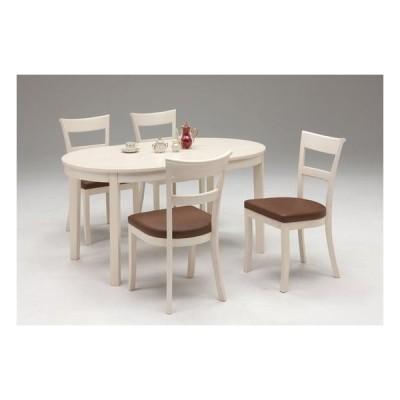 送料無料 ダイニング5点セット ダイニングテーブル 椅子4脚 (ロマンス)