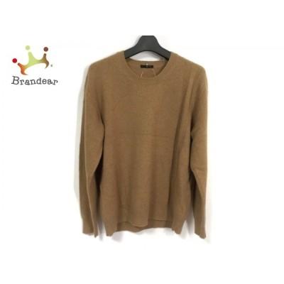 ワイズ Y's 長袖セーター メンズ 美品 - ブラウン クルーネック 新着 20210131